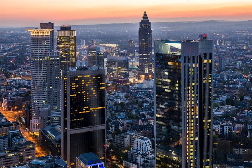 Bild: Bankenviertel in Frankfurt/Main